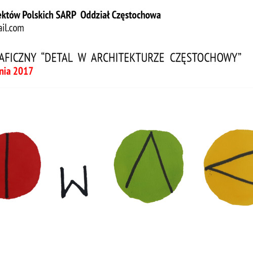 """Konkurs Fotograficzny """"Detal w architekturze Częstochowy"""" wystartował !"""